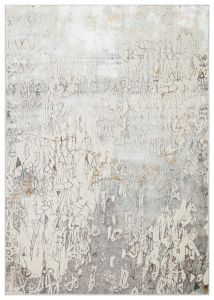 Dalia DAL07 Ivory Silver Abstract Rug by Concept Looms