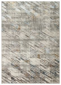 Dalia DAL09 Silver Multicolour Abstract Rug by Concept Looms