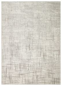 Dalia DAL12 Ivory Grey Abstract Rug by Concept Looms