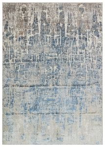 Dalia DAL17 Silver Blue Abstract Rug by Concept Looms