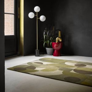 Decor Cosmo Greens 095207 Abstract Rug by Brink & Campman