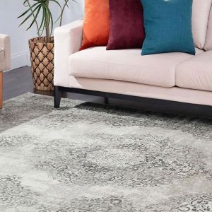 Delave Grey Persian Rug by Floorita