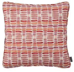 Desert Berry Geometric Cushion by Claire Gaudion
