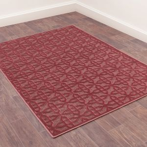 Dimensions 809 Terracotta Geometric Rug by Prestige