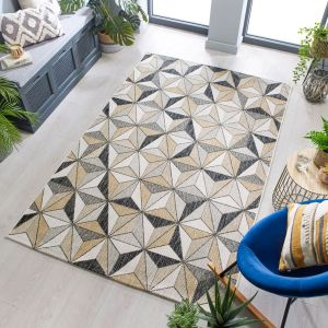 Dimensions Outdoor Charm Grey Natural Rug by Flair Rugs