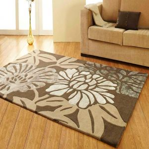 Divine Abstract Floral Design Unique Rug by Prestige