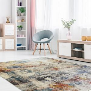 Easy Care Prado Multi Abstract Rug by Floorita