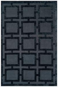 Eaton Black Geometric Rug by Katherine Carnaby