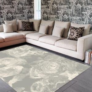 Echo EC07 Water Floral Taupe Rug By Asiatic