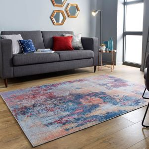 Electric Surge Multi Abstract Rug by Flair Rugs