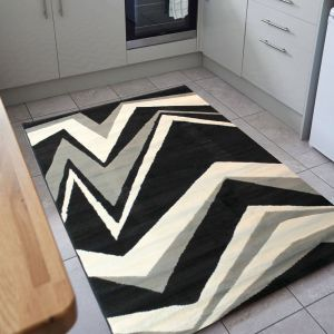 Element Shard Black/Grey Rug by Flair Rugs