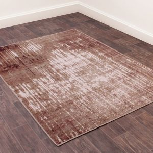 Elements 708 Terracotta Abstract Rug by Prestige