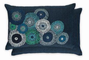 Eliana Indigo WYC04719X Cushion by William Yeoward