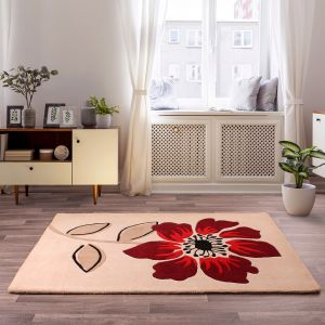 Elite Red Floral Rugs By Ultimate Rug