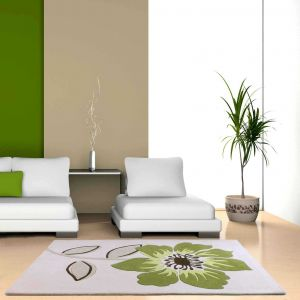 Elite Green Floral Rugs By Ultimate Rug