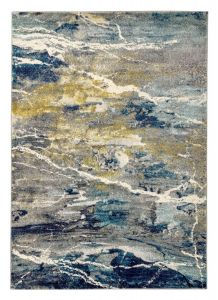 Elssa ELS02 Grey Multi Abstract Rug by Concept Looms