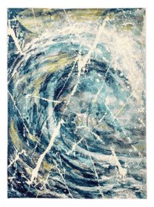 Elssa ELS05 Blue Multi Abstract Rug by Concept Looms