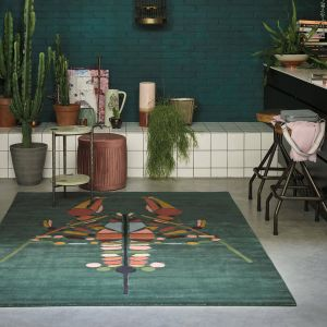 Emerging 160407 Lobster Green Wool Rug by Ted Baker