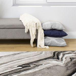 Empire Grey Abstract Rug by Floorita