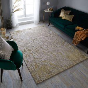 Eris Arissa Gold Modern Rug by Flair Rugs