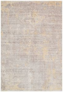 Essence ESSC03 Grey Yellow Abstract Rug by Concept Looms