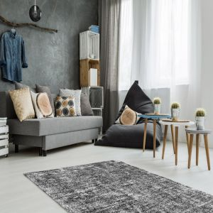 Etna 110 Anthracite Shaggy Rug by Kayoom