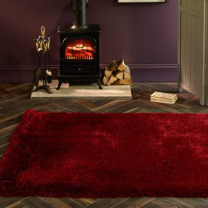 Extravagance Red Shaggy Rug by Origins