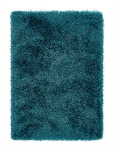 Extravagance Teal Shaggy Rug by Origins