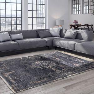 Fading World 8263 Mineral Black Designer Luxury Rug By De Poortere