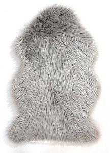 Faux Fur Sheepskin Grey Rug By Flair Rug