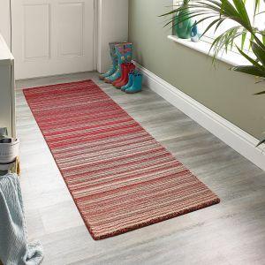 Fine Stripes Red Wool Runner by Origins