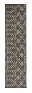 Florence Alfresco Milan Anthracite Beige Geometric Runner by Flair Rugs