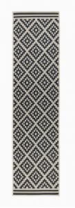 Florence Alfresco Moretti Black/Beige Runner by Flair Rugs