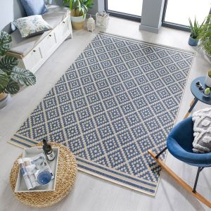 Florence Alfresco Moretti Blue Beige Rug by Flair Rugs