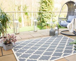 Florence Alfresco Padua Beige/Anthracite Rug by Flair Rugs
