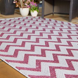 Florence Alfresco Trieste Pink Rug by Flair Rugs