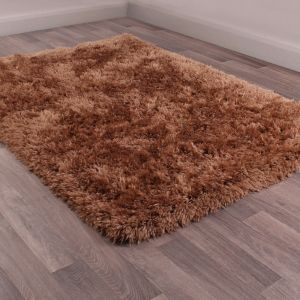 Flossy Mink Shaggy Rug by Ultimate Rug
