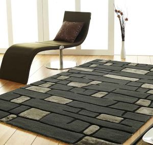 Fortress Stripe Design Unique Rug by Prestige