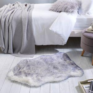 Freja Faux Fur Copenhagen Natural Shaggy Plain Rug by Flair Rugs
