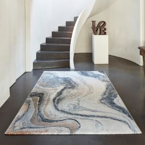 Galleria 063 0618 8656 Blue Abstract Rug by Mastercraft
