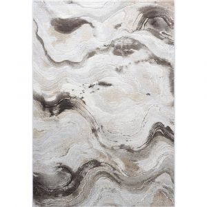 Galleria 063-07176282 Cream Beige Contemporary Abstract Rug by Mastercraft