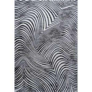 Galleria 063-07387696 Black White Contemporary Abstract Rug by Mastercraft