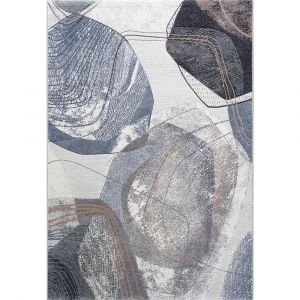 Galleria 063-07637656 White Multi Contemporary Abstract Rug by Mastercraft
