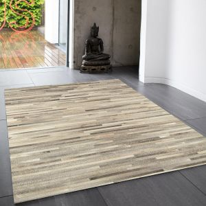 Gaucho Light Grey Stripe Rug By Asiatic 1