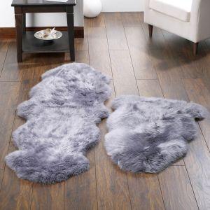 Genuine Sheepskin Grey Rug by Origins
