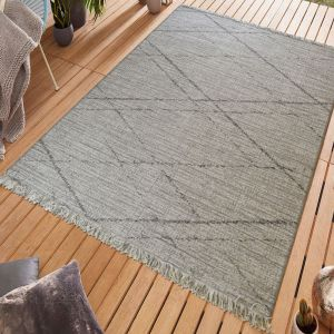 Gipsy Grey Geometric Rug by Floorita