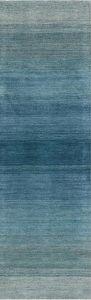 GLO01 Linear Glow Aqua Wool Runner by Calvin Klein
