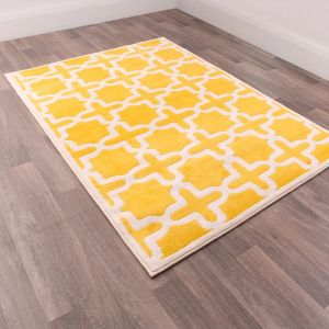 Goteborg 36036A Yellow Geometric Rug by Rug Style
