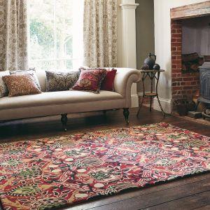 Granada 27600 Red Black Hand Tufted Wool Rug by Morris & CO.