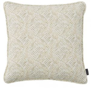 Grassland Mocha Abstract Cushion by Claire Gaudion